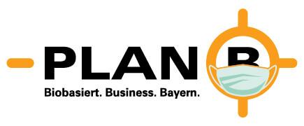 Plan B Logo mit Maske