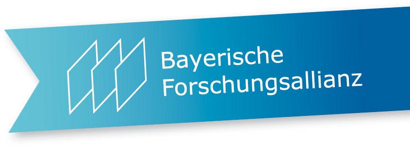 Bayerische Forschungsallianz Flaggen-Logo